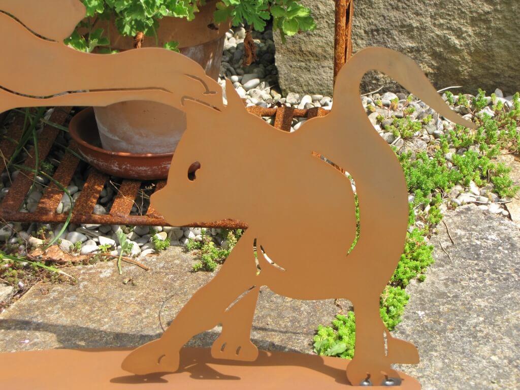 Edelrost katzenkinder spielend angels garden dekoshop for Edelrost tiere