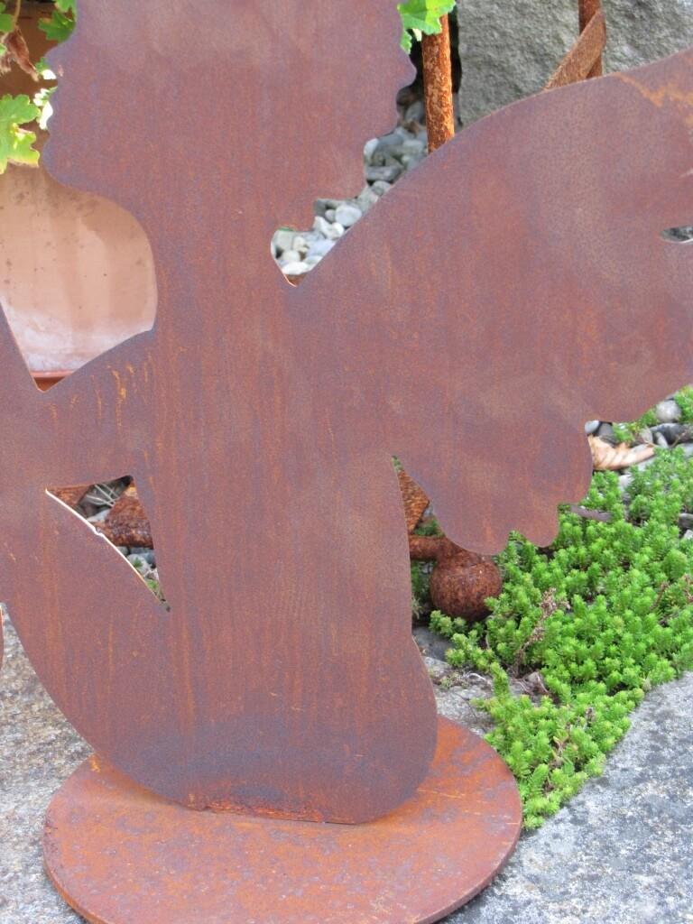 Edelrost engel sitzend 36 cm angels garden dekoshop for Engel edelrost