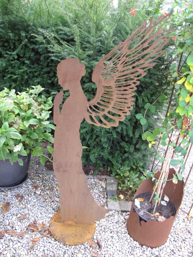 edelrost engel santine auf platte 140 cm angels garden. Black Bedroom Furniture Sets. Home Design Ideas