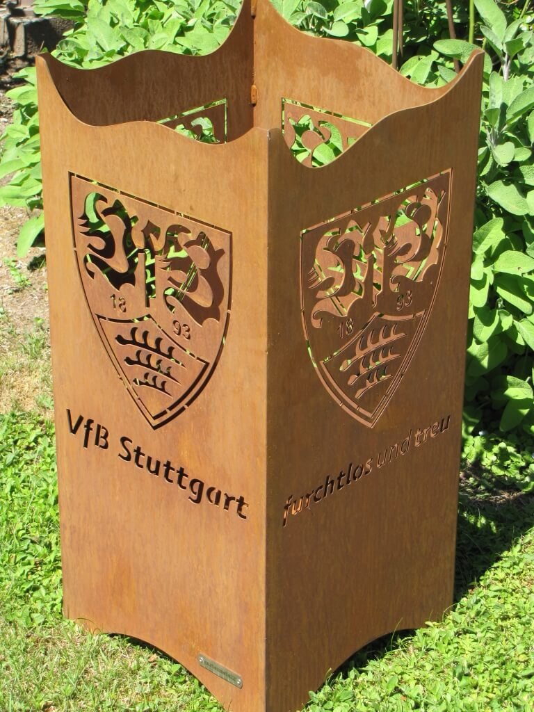 Vfb Stuttgart Edelrost Feuerkorb Fan Fire Angels Garden Dekoshop