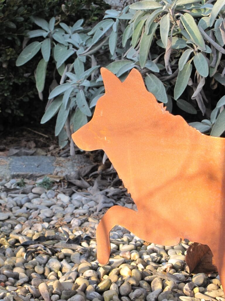Edelrost fuchs laufend angels garden dekoshop for Edelrost tiere