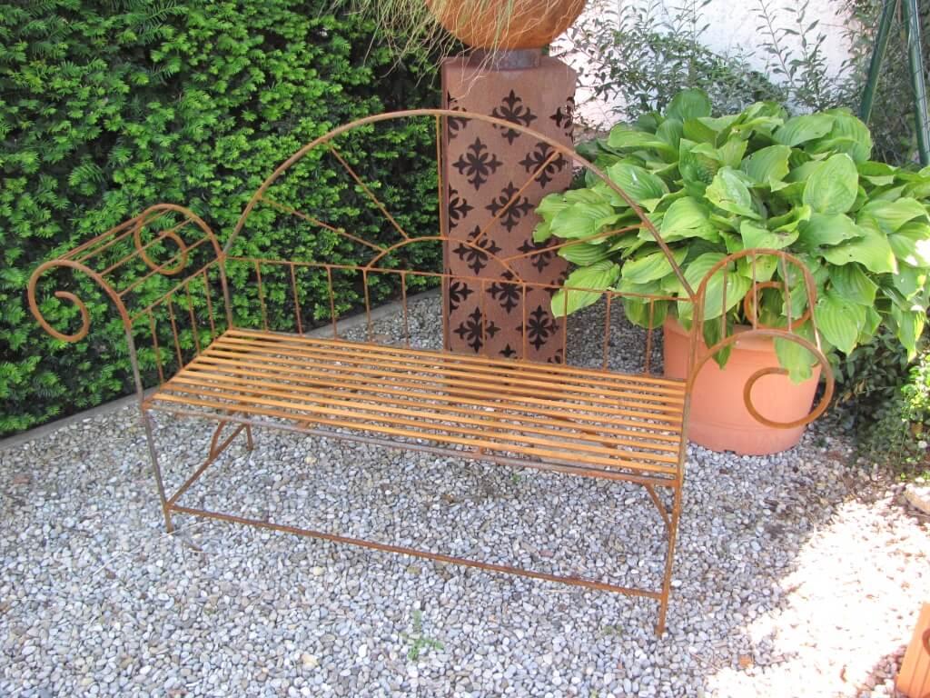 Edelrost gartenbank alvaro angels garden dekoshop for Edelrost skulpturen