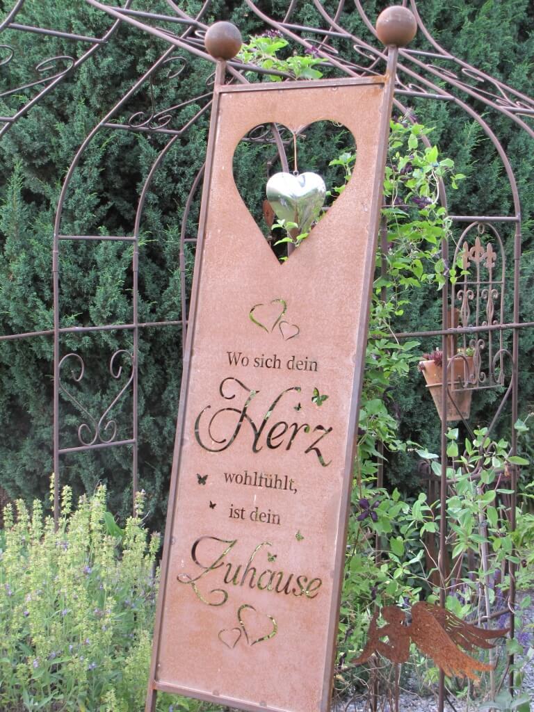edelrost gartenschild herz zuhause angels garden dekoshop. Black Bedroom Furniture Sets. Home Design Ideas