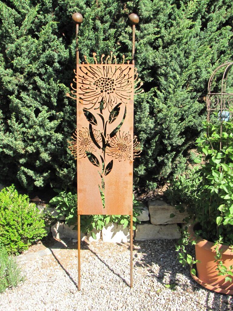Edelrost gartenschild pusteblume angels garden dekoshop for Tiere aus metall gartendeko