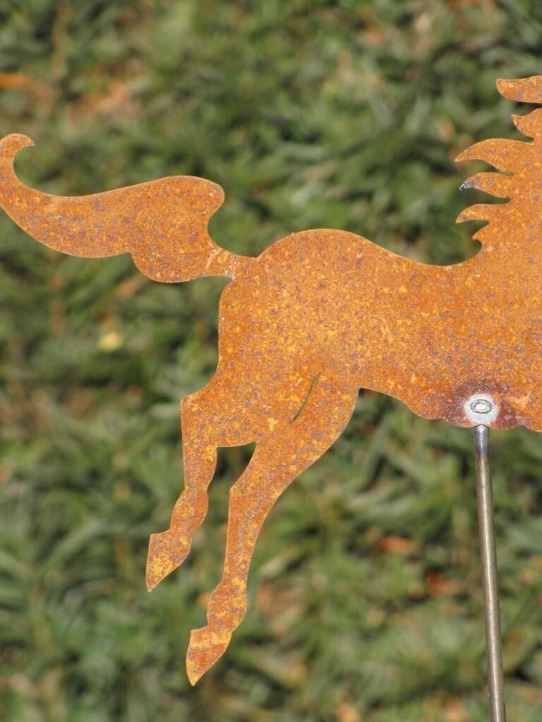 Edelrost gartenstecker pferd angels garden dekoshop for Edelrost gartenstecker