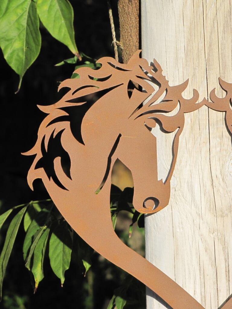 Edelrost gartenstecker pferde herz angels garden dekoshop for Edelrost gartenstecker