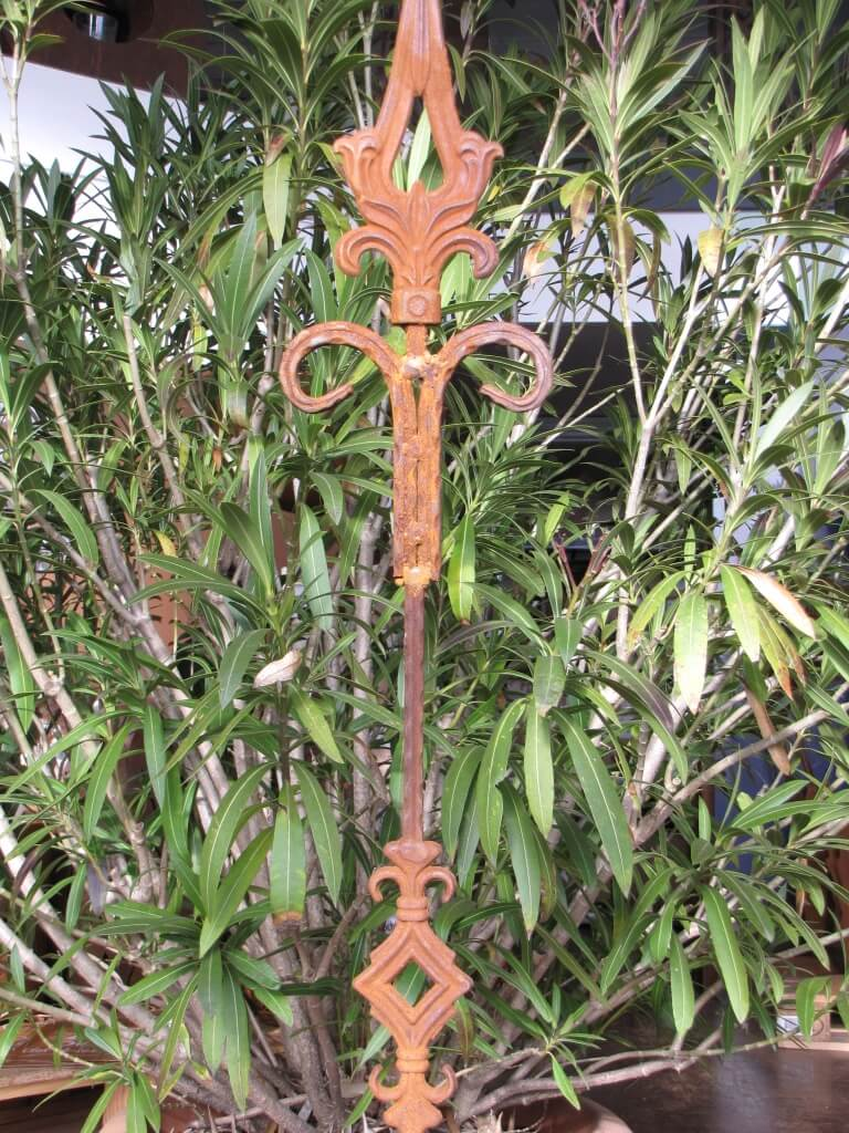 Edelrost gartenstecker ornament spitze aus gusseisen for Gartenstecker edelrost