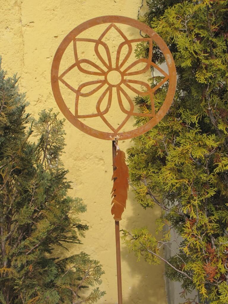 Edelrost gartenstecker traumf nger angels garden dekoshop for Edelrost gartenstecker