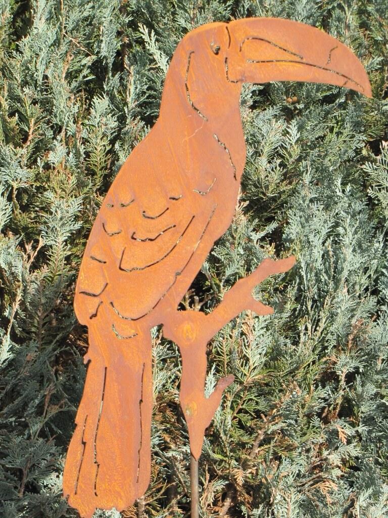 Edelrost gartenstecker tukan angels garden dekoshop for Edelrost gartenstecker