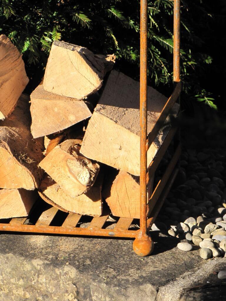 edelrost kaminholzregal archi metall feuerholz holzlege kaminholz ebay. Black Bedroom Furniture Sets. Home Design Ideas