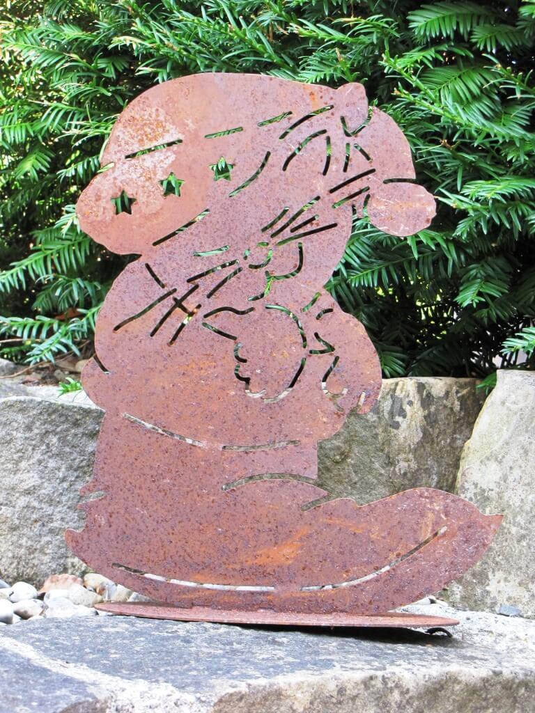 Edelrost katze im stiefel angels garden dekoshop for Edelrost tiere
