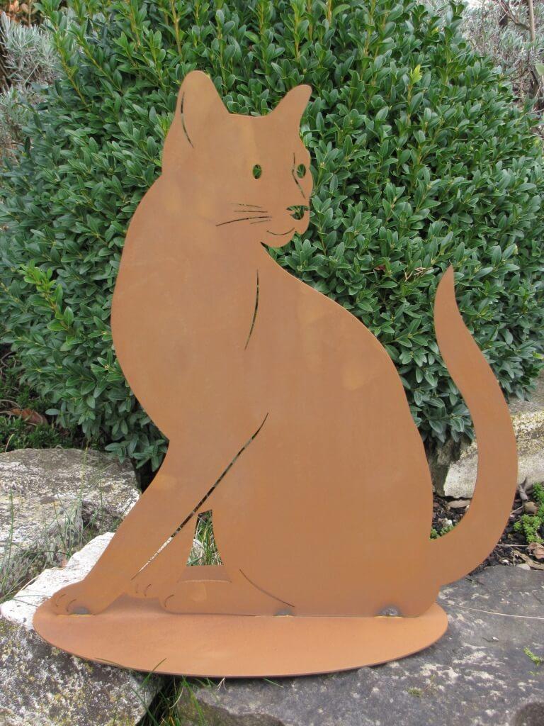Katze lotte aus edelrost angels garden dekoshop for Tiere aus edelrost
