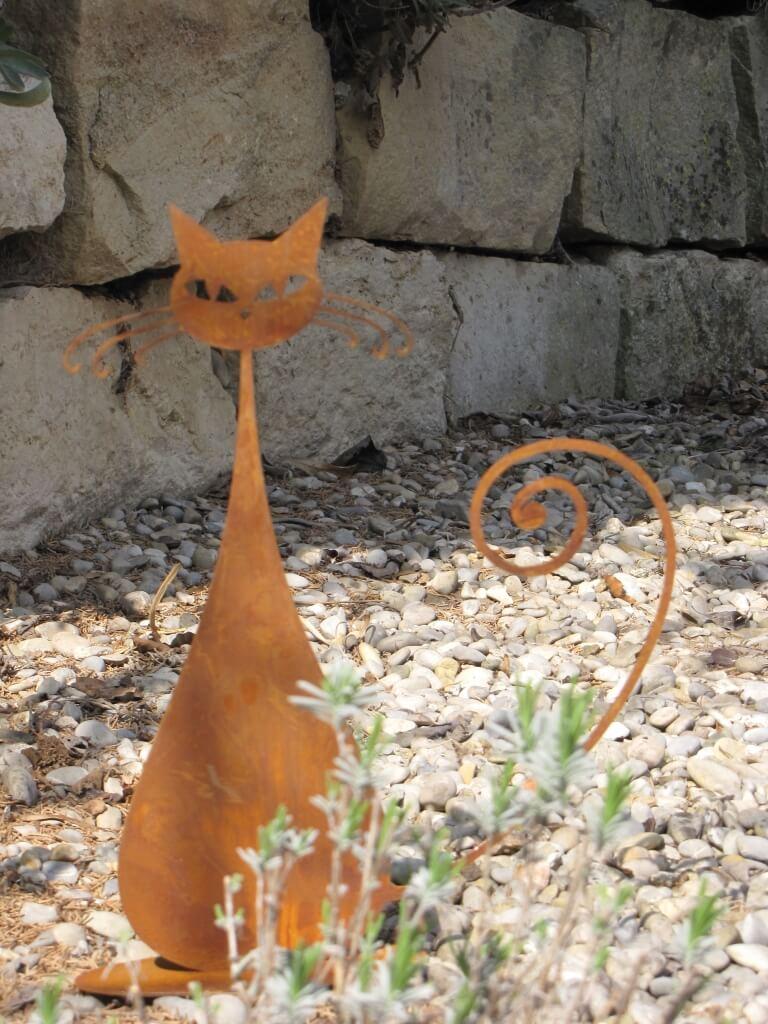 Edelrost katze euchulia angels garden dekoshop for Edelrost tiere