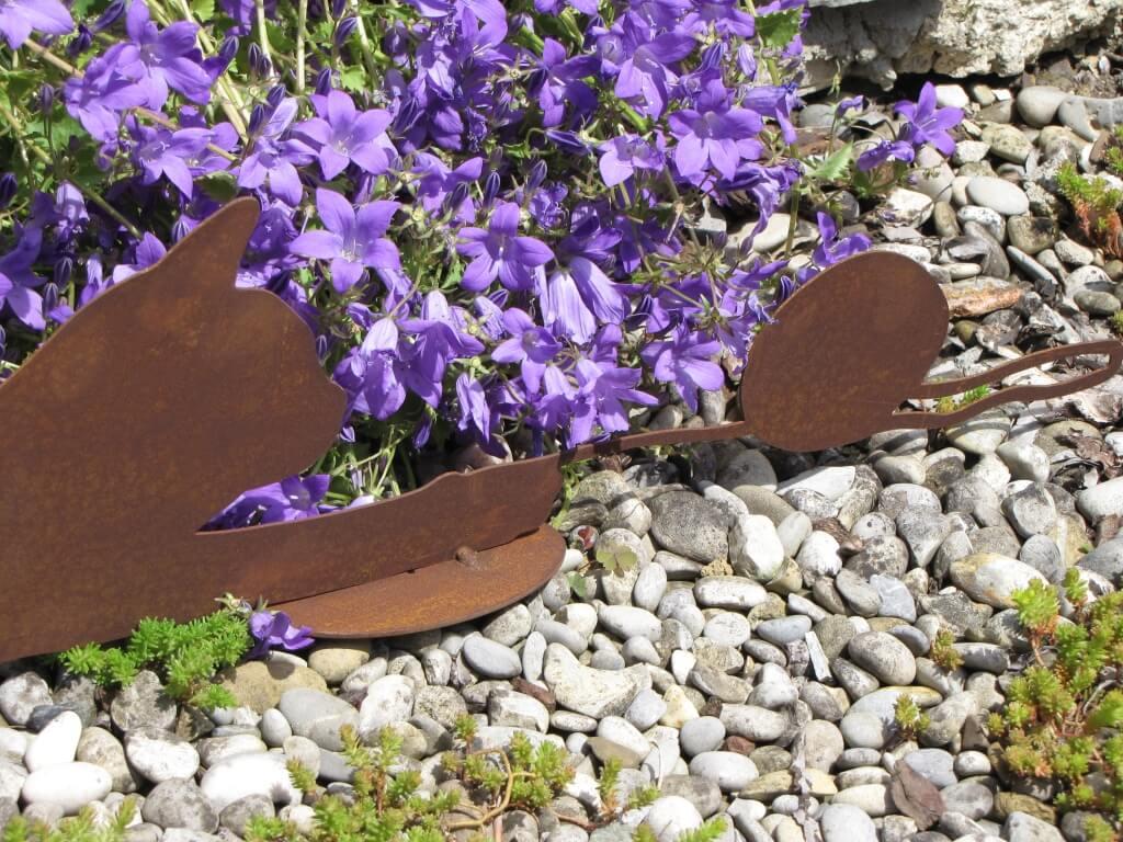 Spielende katze moritz aus edelrost angels garden dekoshop for Tiere aus edelrost