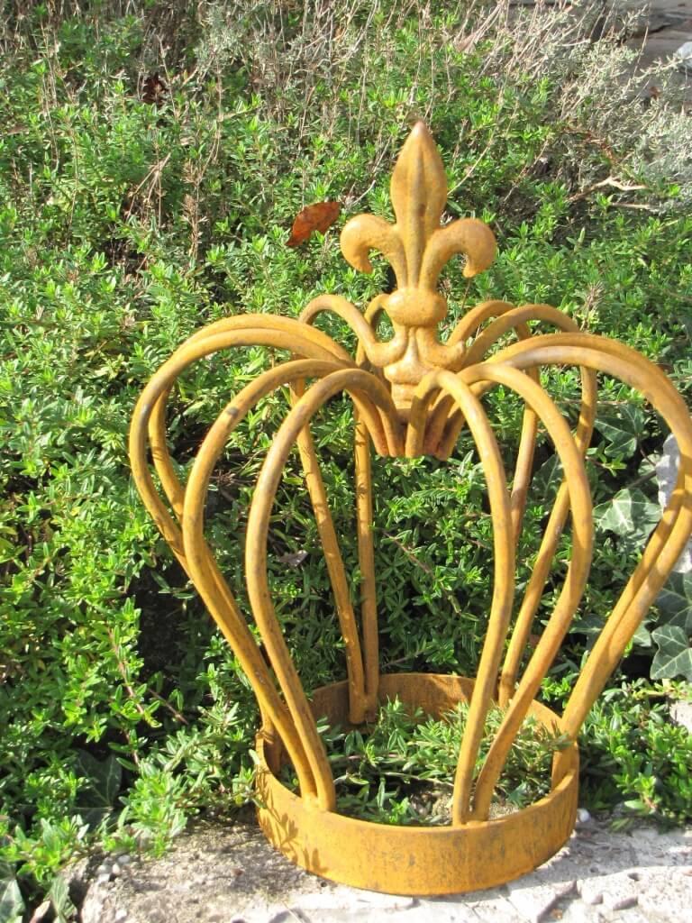 Gartendeko krone finn aus edelrost klein angels garden for Edelrost gartendeko