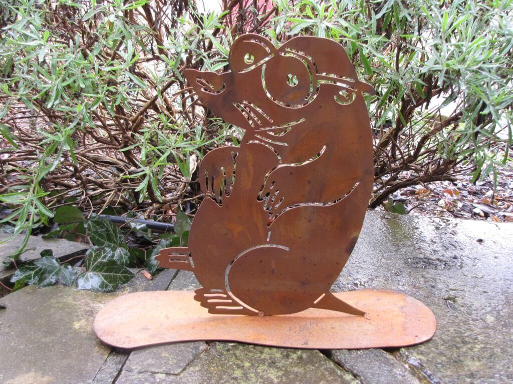 Edelrost maulwurf rudi angels garden dekoshop for Edelrost gartendeko