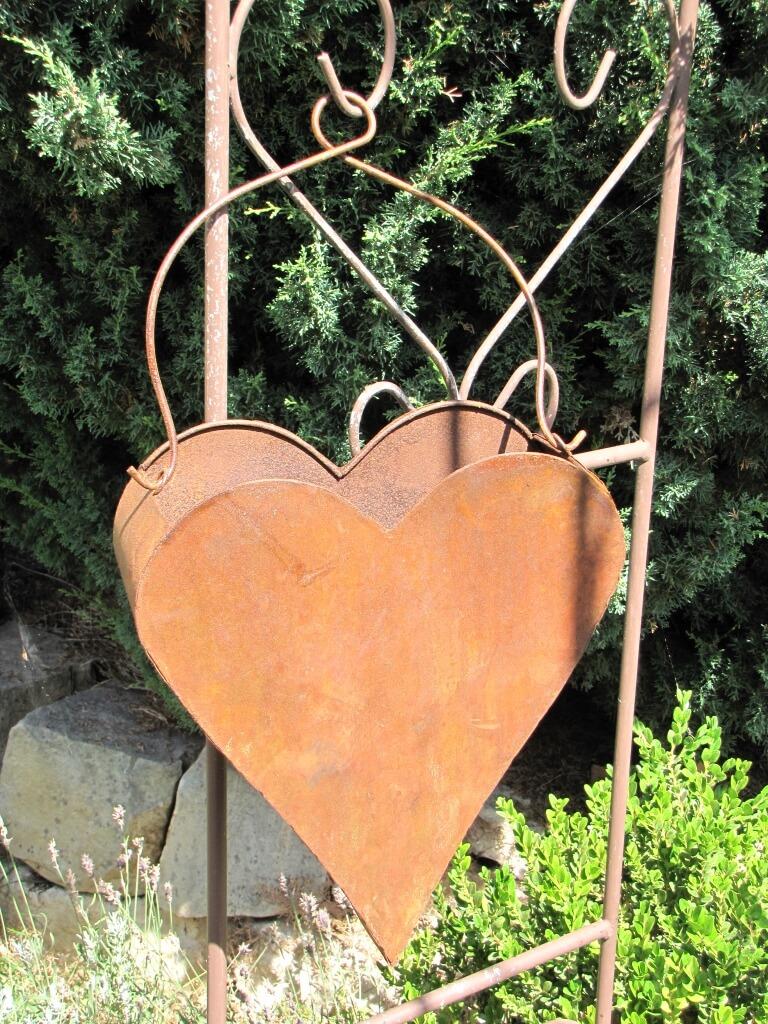 edelrost pflanzschale herz zum h ngen gro angels garden dekoshop. Black Bedroom Furniture Sets. Home Design Ideas