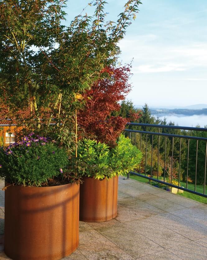 edelrost pflanzring mit boden 95 cm durchmesser angels garden dekoshop. Black Bedroom Furniture Sets. Home Design Ideas