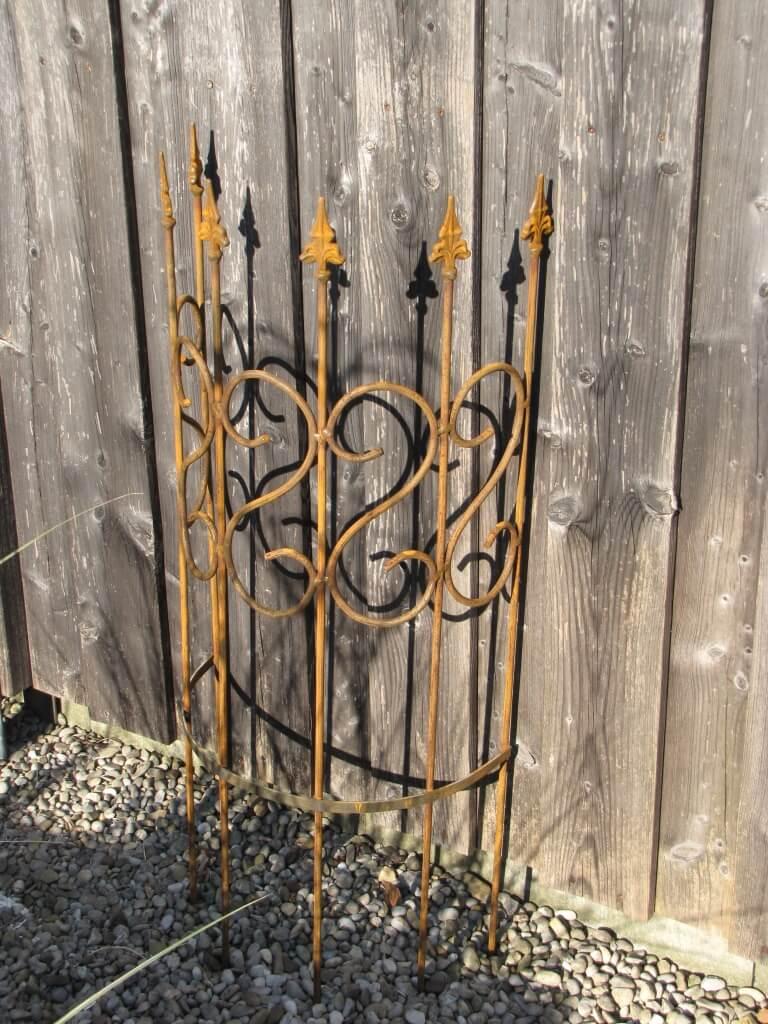 edelrost rankhilfe halbrund 100 cm angels garden dekoshop. Black Bedroom Furniture Sets. Home Design Ideas