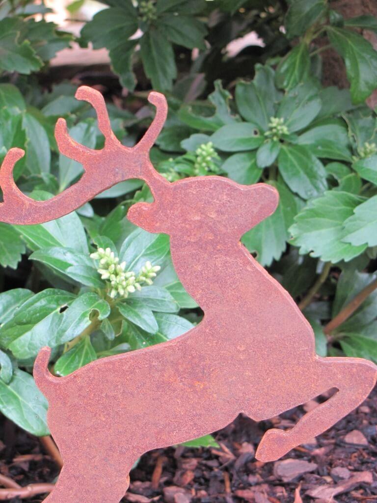 Edelrost weihnachtselch auf platte gro angels garden for Edelrost tiere