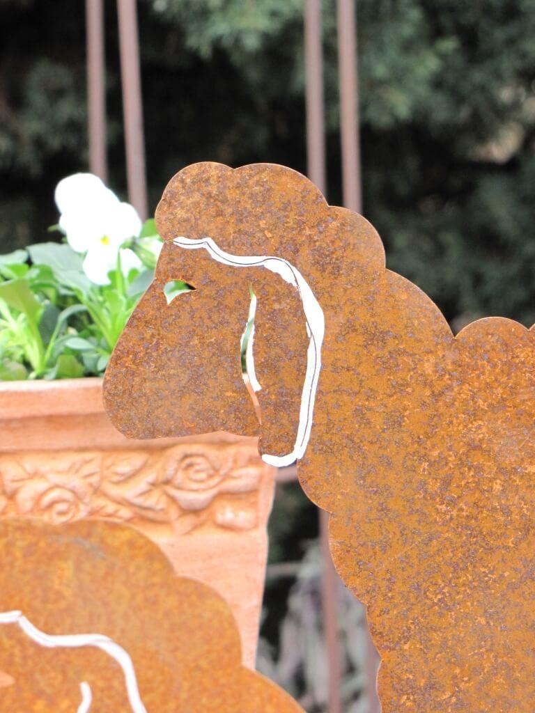 Edelrost schaf stehend angels garden dekoshop for Edelrost tiere