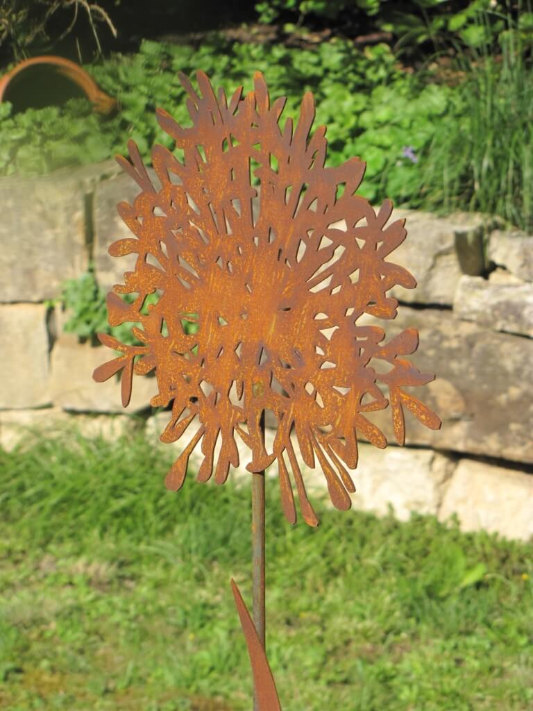 Edelrost gartenstecker schmucklilie 140 cm angels garden for Edelrost gartenstecker
