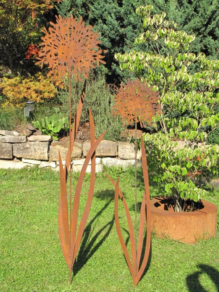 Edelrost gartenstecker schmucklilie 170 cm angels garden for Edelrost gartenstecker