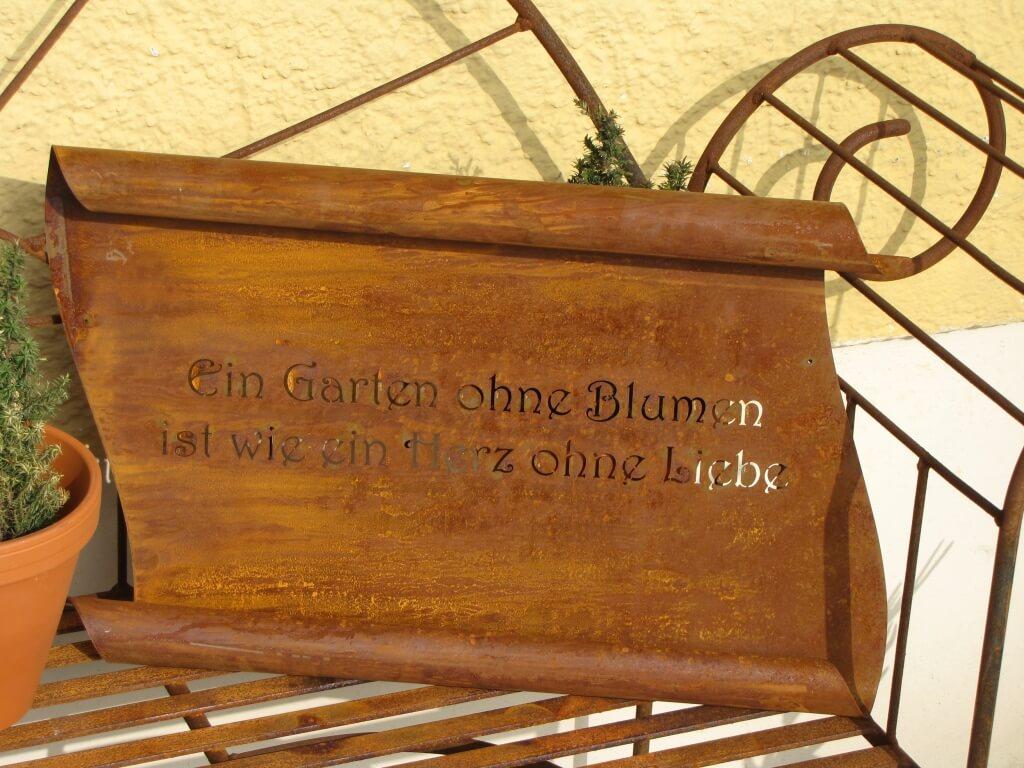 Edelrost spruchrolle garten angels garden dekoshop for Garten edelrost