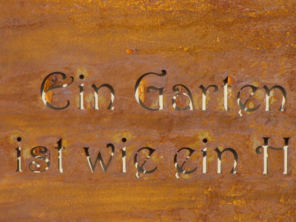 Edelrost spruchrolle garten angels garden dekoshop for Edelrost garten