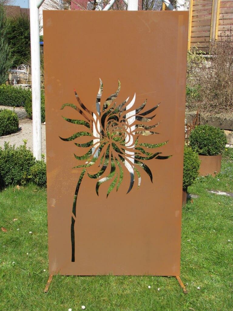 Edelrost sichtschutzwand l wenzahn angels garden dekoshop for Edelrost skulpturen