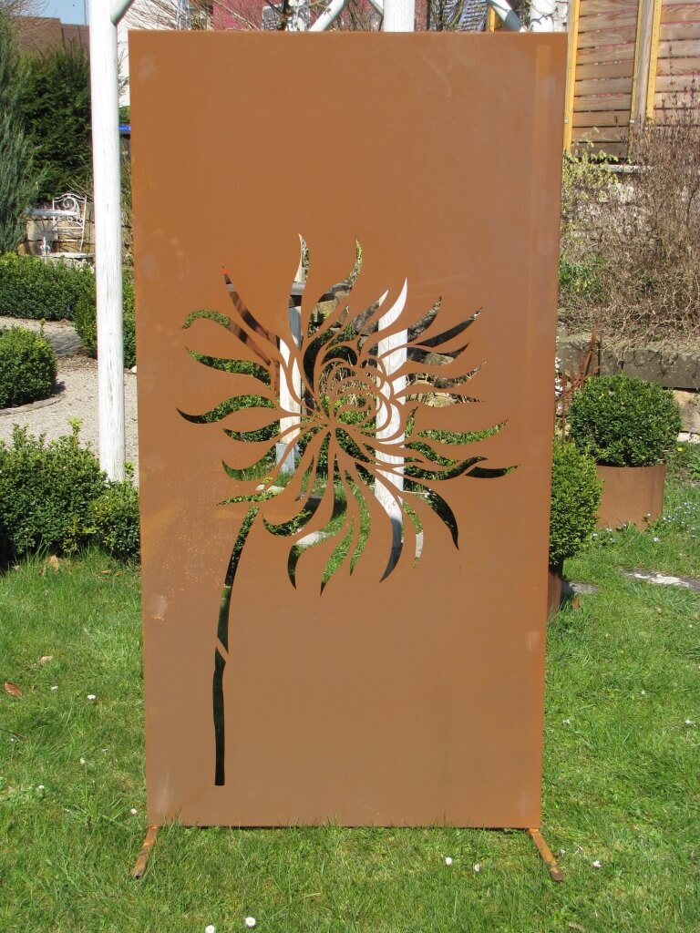 Edelrost sichtschutzwand l wenzahn metall raumteiler sichtschutz windschutz ebay - Sichtschutzwand metall ...