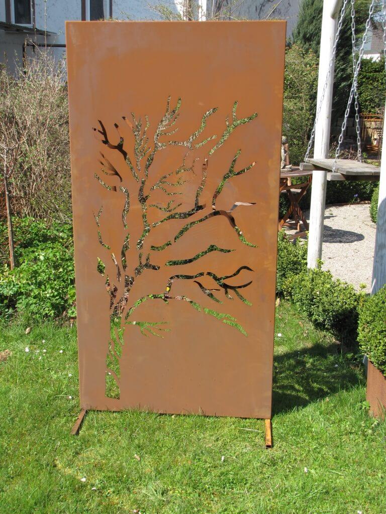 Edelrost sichtschutzwand weide angels garden dekoshop for Edelrost skulpturen