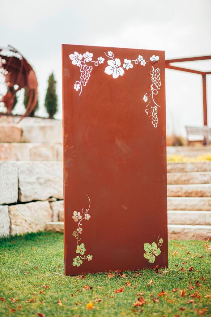 Edelrost sichtschutzwand weinreben metall sichtschutz windschutz ebay - Sichtschutzwand metall ...