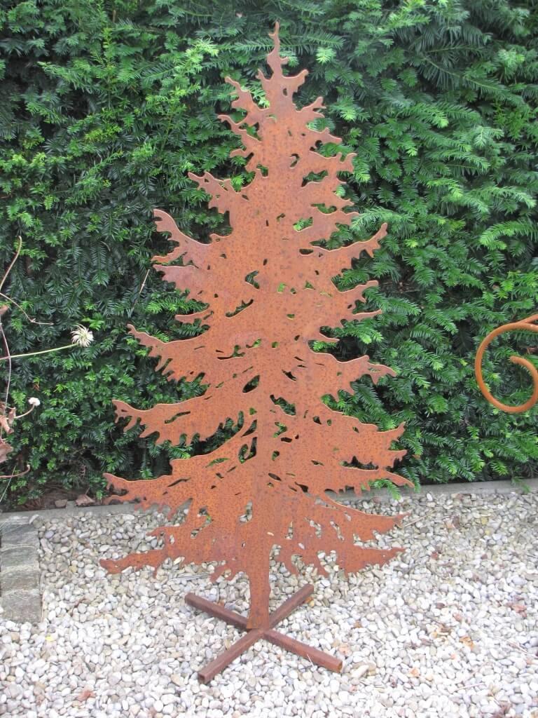 Tannenbaum Edelrost.Edelrost Tannenbaum Massiv Inkl Ständer