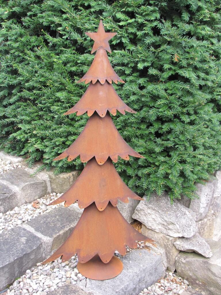 Tannenbaum Edelrost.Edelrost Tannenbaum Breit Auf Platte Angels Garden Dekoshop