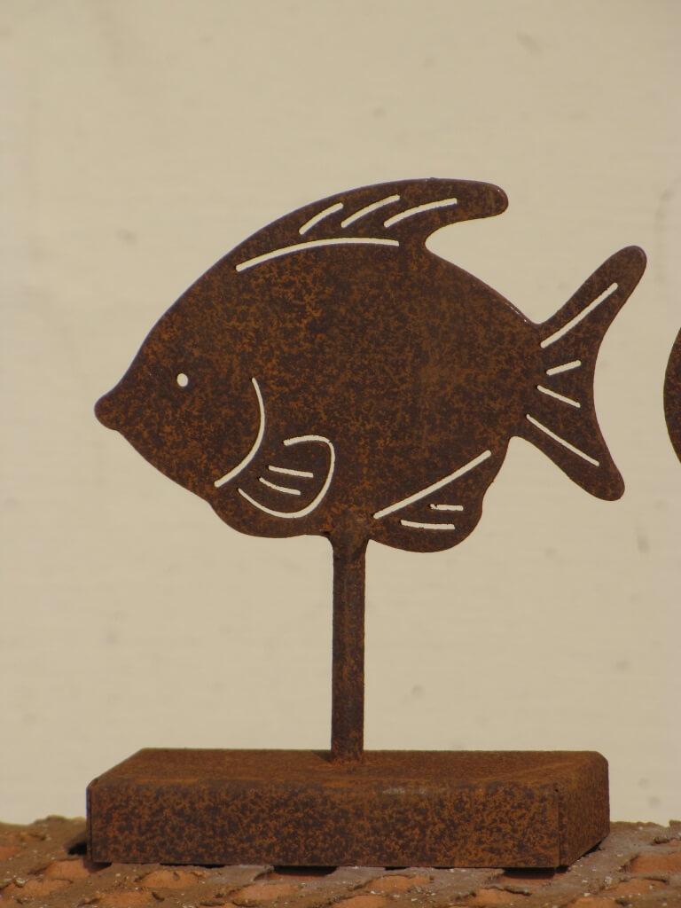 Edelrost tischdeko fisch angels garden dekoshop for Tischdeko fisch