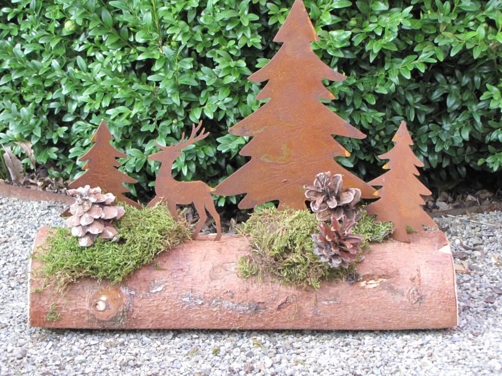 Edelrost winterlandschaft 40 cm angels garden dekoshop - Winterlandschaft deko ...