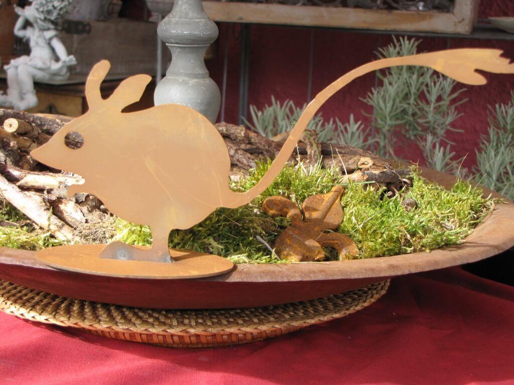Edelrost w stenrennmaus klein angels garden dekoshop for Edelrost tiere