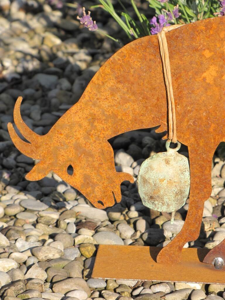Edelrost ziege auf platte angels garden dekoshop for Edelrost tiere