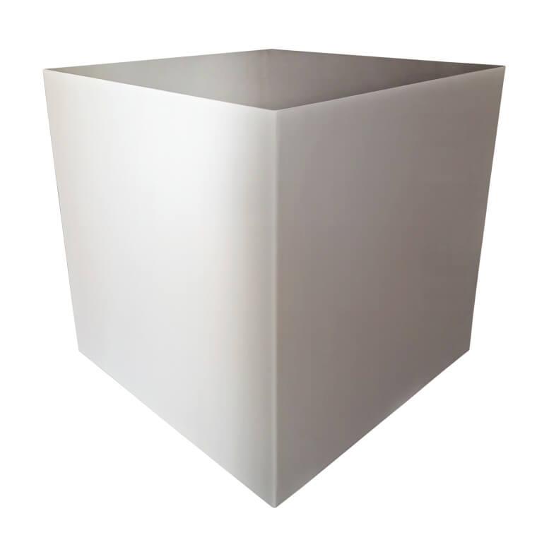 Edelstahl Pflanzkübel quadratisch klein - Angels Garden Dekoshop