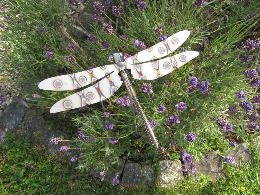 Edelstahl gartenstecker libelle 75 cm angels garden dekoshop for Gartendeko edelstahl gartenstecker