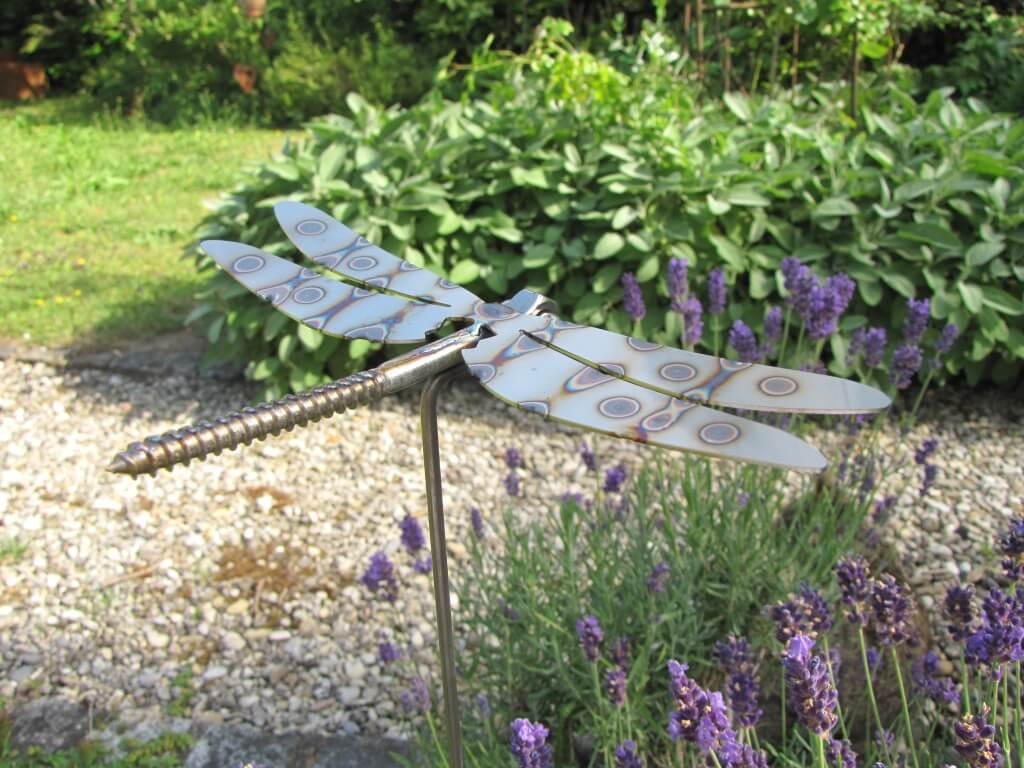 edelstahl gartenstecker libelle 75 cm angels garden dekoshop. Black Bedroom Furniture Sets. Home Design Ideas