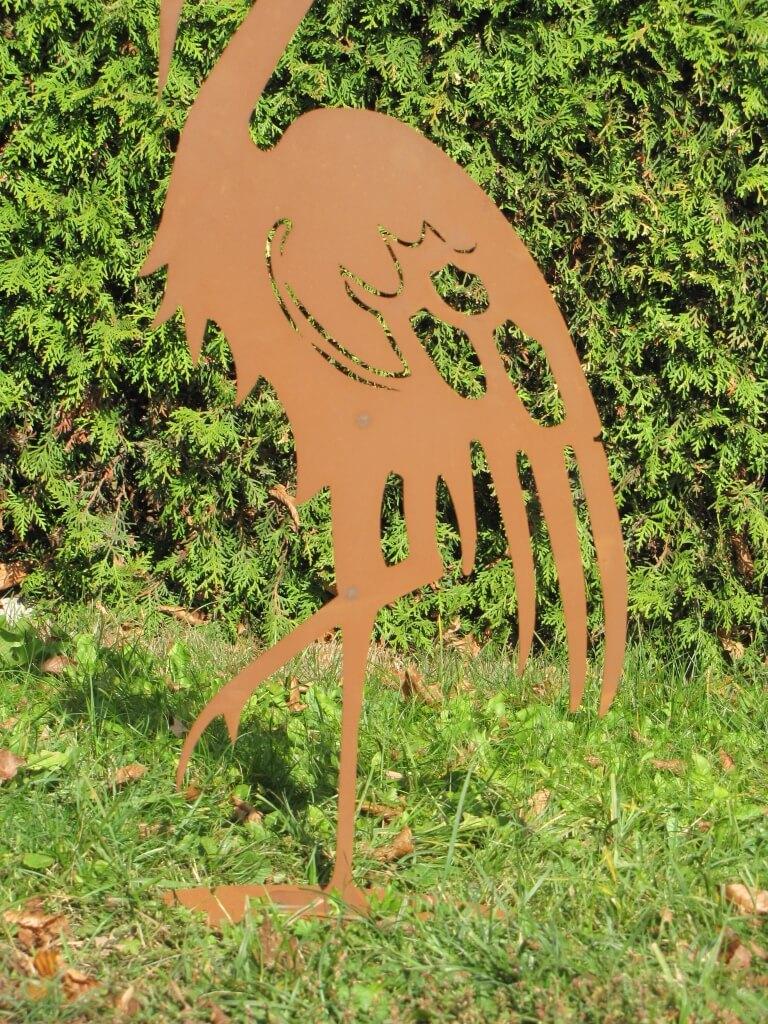 Edelrost kranich 90 cm angels garden dekoshop for Edelrost tiere