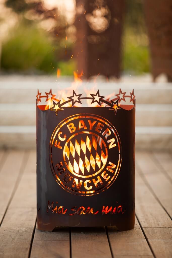Edelrost Feuerkorb Herz Dekoration Garten Feuerstelle Feuerkorb Schale Holz
