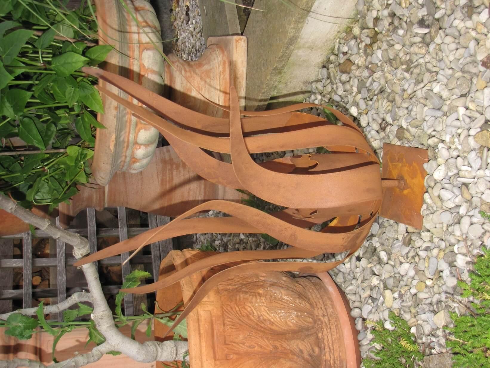 feuerblume fiamma auf platte f r kerze oder brenngeldose gro angels garden dekoshop. Black Bedroom Furniture Sets. Home Design Ideas