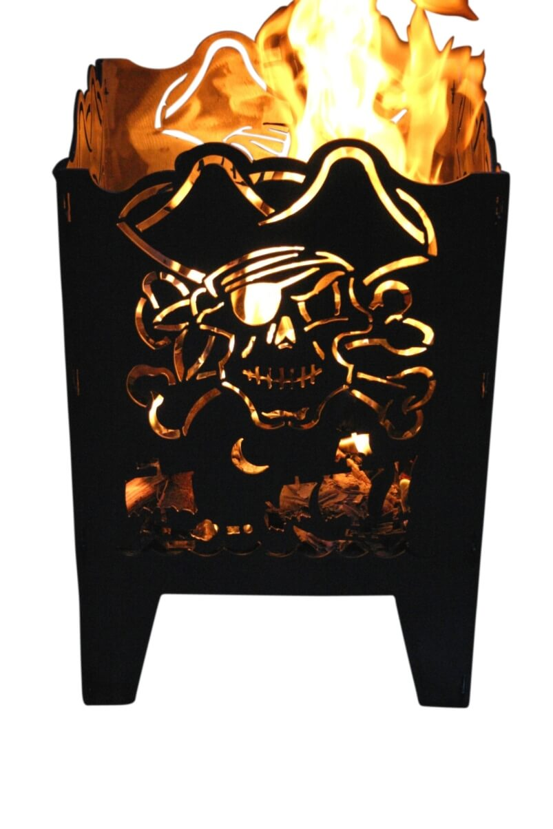 design feuerkorb pirat aus rohstahl angels garden dekoshop. Black Bedroom Furniture Sets. Home Design Ideas