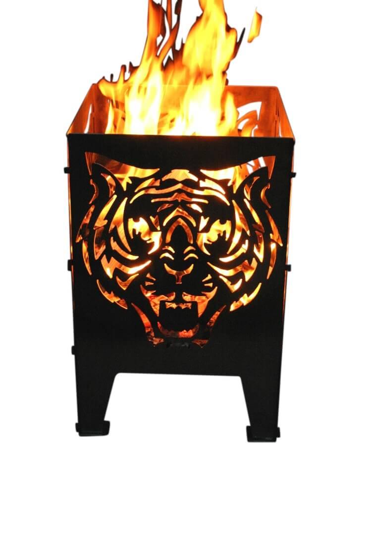 design feuerkorb tigerkopf aus rohstahl angels garden dekoshop. Black Bedroom Furniture Sets. Home Design Ideas