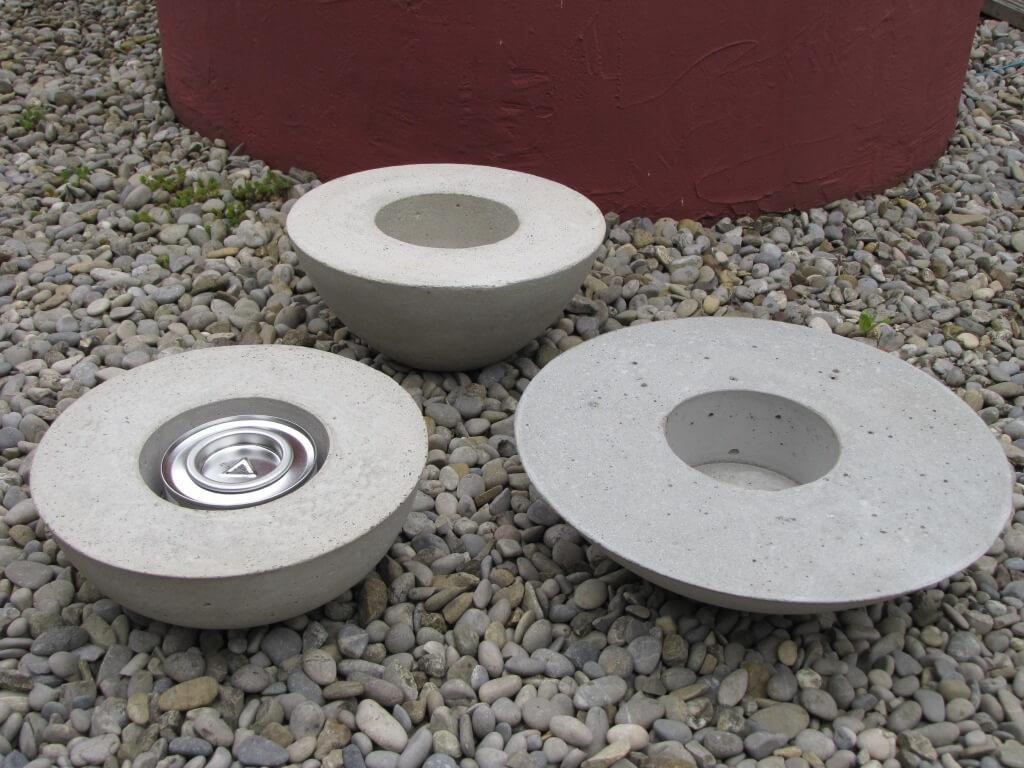 Gro e feuerschale aus beton inkl brenngel dose angels garden dekoshop - Billardtisch aus beton oeffentlichen bereich ...