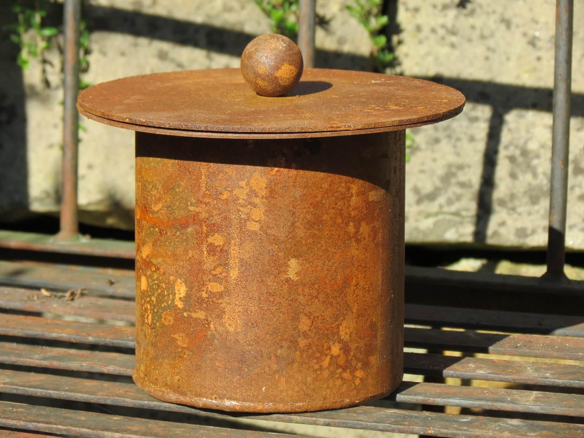 Edelrost feuertopf f r bioethanol angels garden dekoshop for Rostige gartenstecker