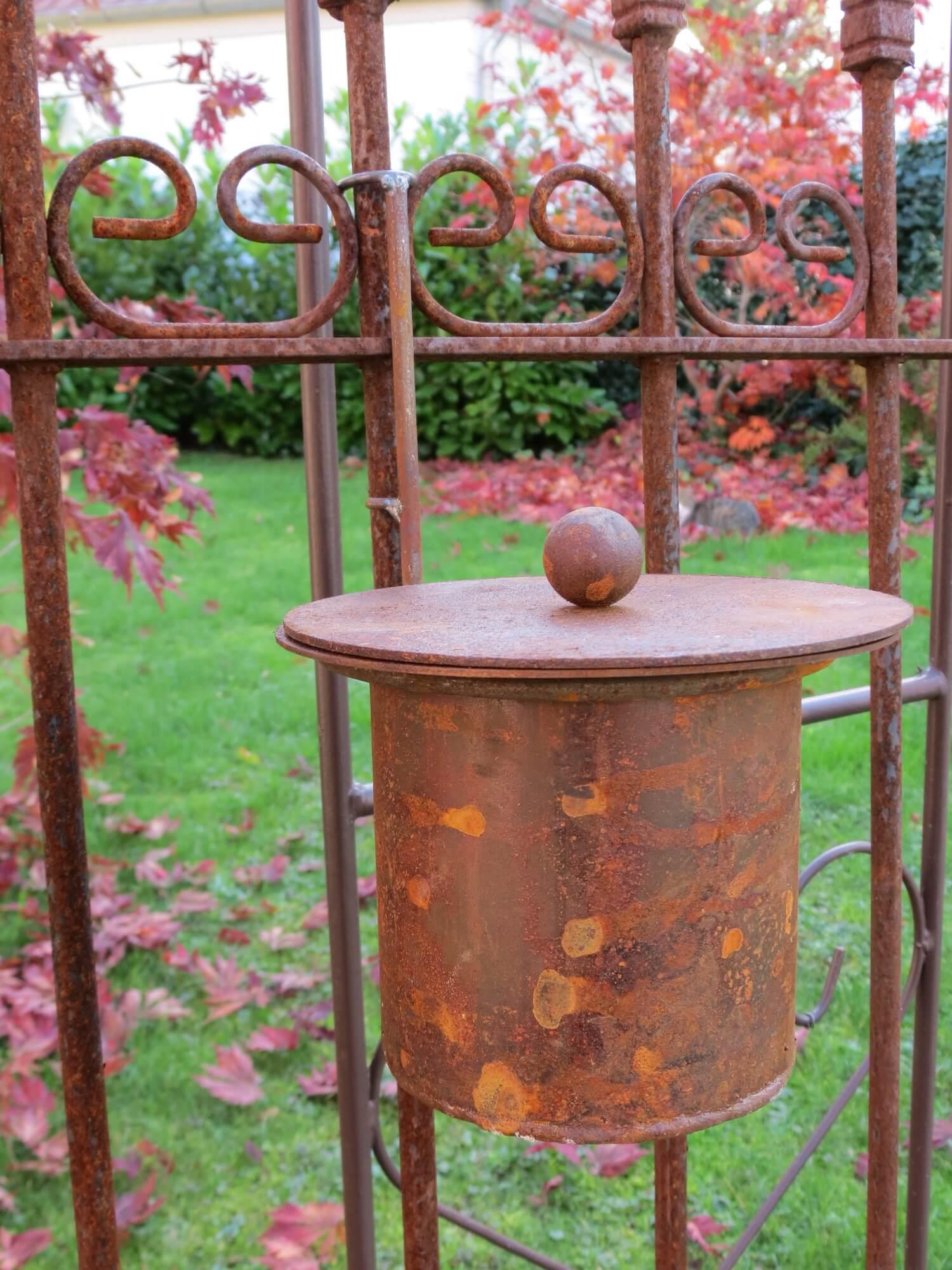 Edelrost feuertopf f r bioethanol angels garden dekoshop for Tiere aus metall gartendeko